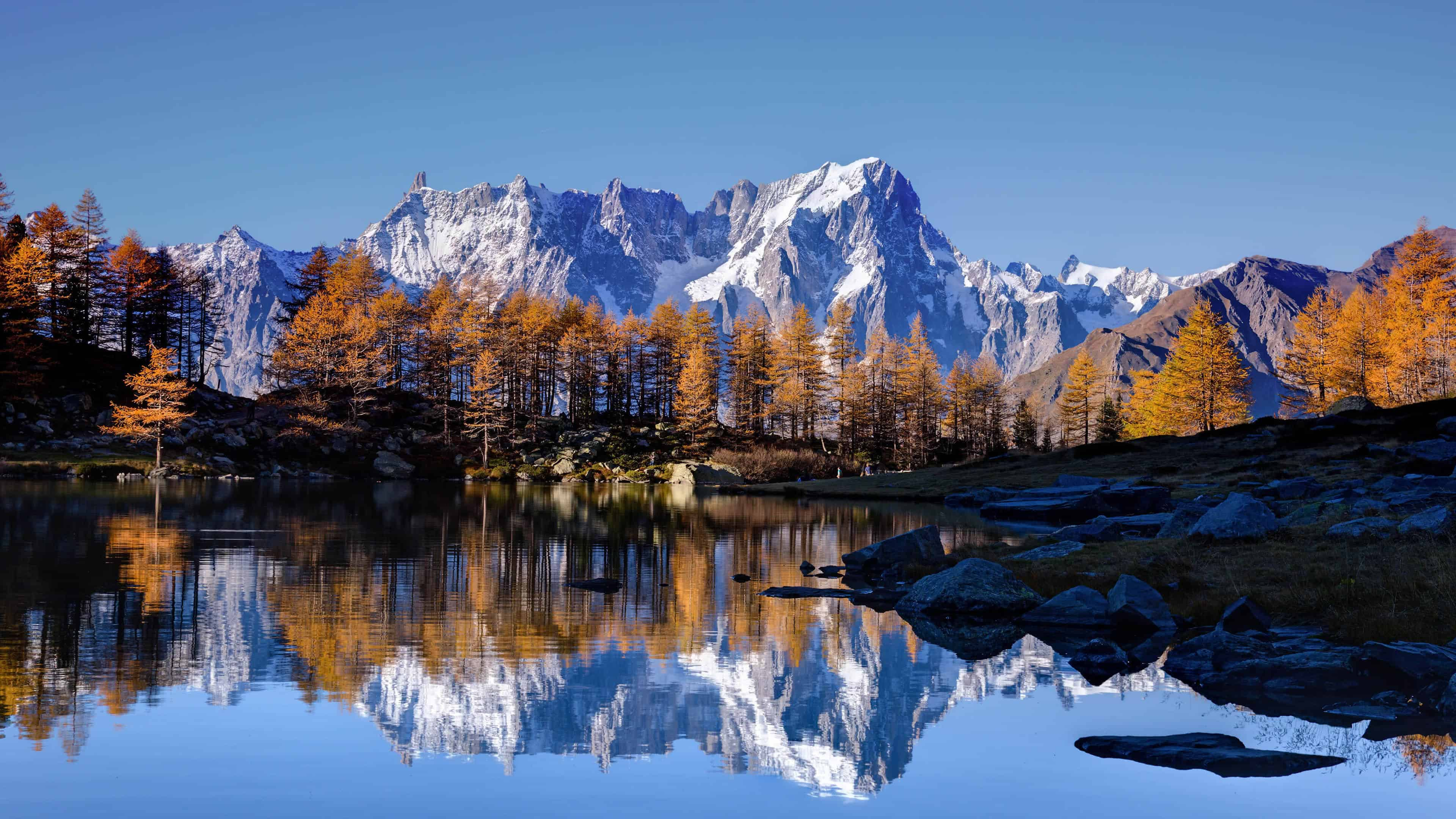 Mont Blanc Mountains In Autumn Uhd 4k Wallpaper Pixelz