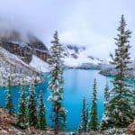moraine lake banff canada uhd 4k wallpaper